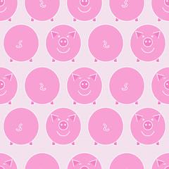 Pink pig. Seamless pattern.