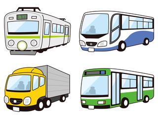 電車 大型トラック 高速バス 路線バス