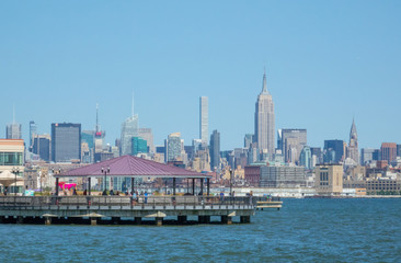 Bridge Harbor and Midtown Manhattan New York view from Jersey city, NJ