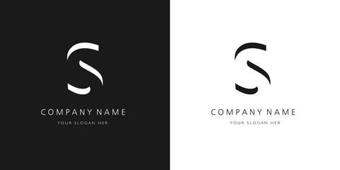 S logo letter design