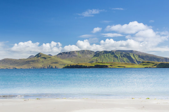 Isle of Canna in Scotland is the westernmost of the Small Isles archipelago, in the Scottish Inner Hebrides