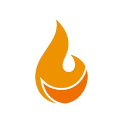 Fire Logo. Flame Icon. Burning Symbol. Vector Eps 10.