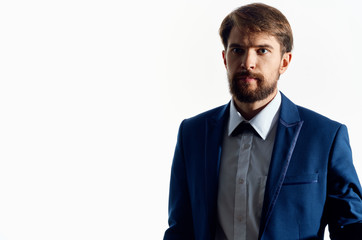 business man with a beard on an isolated background