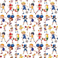 A seamless pattern of athlete