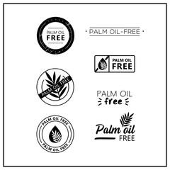 palm oil-free vector logos