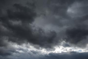 Dark gray cloudy sky