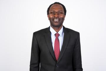Portrait of happy African businessman wearing suit