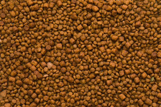 Dried dog food background