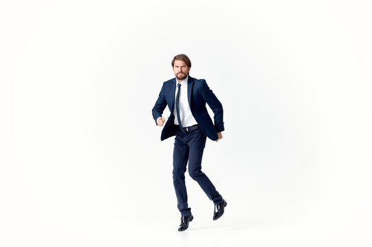 business man in suit on white background