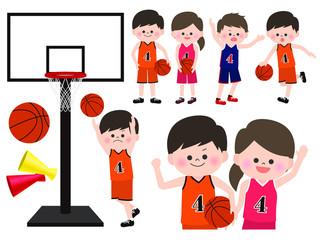 人物素材〈バスケ部の男の子と女の子〉