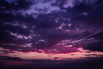 pink sunset dark sky beautiful nature background