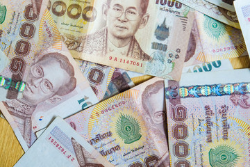 1000 THB money background close up object of business concept