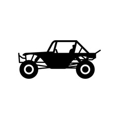Buggy car vector logo.