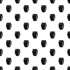 Honey jar pattern seamless vector repeat geometric for any web design