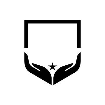 two hand shield logo
