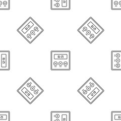 Alarm clock icon. Outline illustration of alarm clock vector icon for web design isolated on white background
