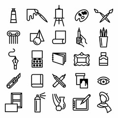Art icon vector set.
