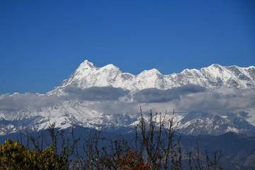 Himalayan peaks in winter