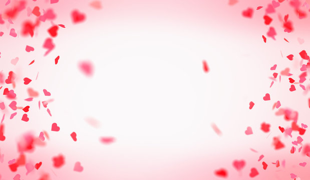 Falling hearts for Valentine's day