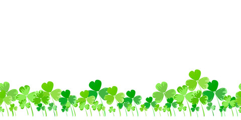 St. Patrick's day vector horizontal background