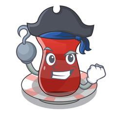 Pirate trukish tea in the cartoon form