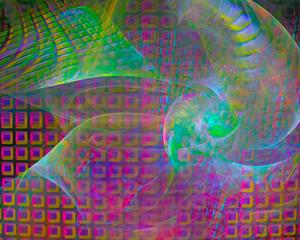 abstract digital fractal, fantasy design, party