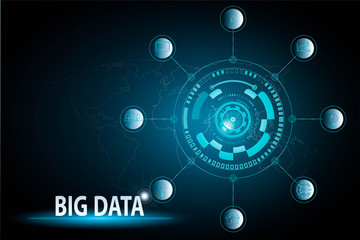 big data technology of future concept background
