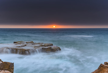 Sunrise Seascape with Cascades