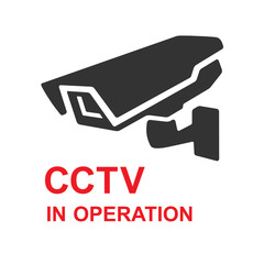 Closed Circuit Television Sign. CCTV in operation icon. Vector illustration.