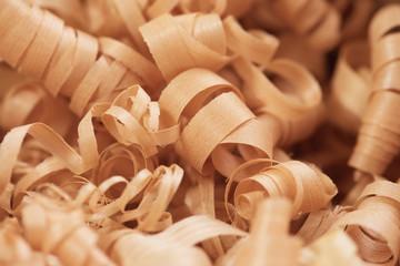Wood working wood shavings in variety of sizes.