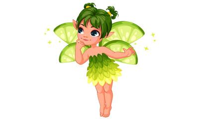 Cute little lemon fairy