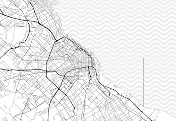 Area map of Buenos Aires City, Argentina