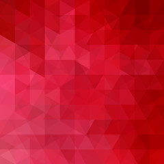 Geometric pattern, triangles vector background inred tone. Illustration pattern