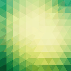 Geometric pattern, triangles vector background in yellow, green ' tones. Illustration pattern