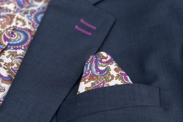 Detalle costura textil, chaqueta