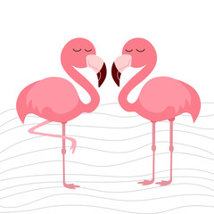 cute flamingo background,  vector illustration