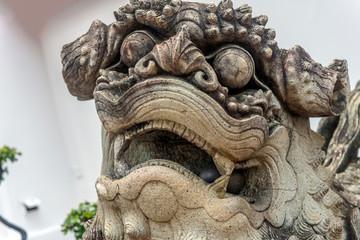 Stone Thai Lion Statue