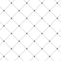 Abstract seamless pattern. Dots. Geometric fashion design print.  Furniture upholstery. Monochrome wallpaper