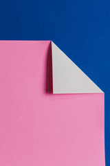 Detail of folded pink & blue origami paper