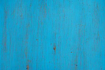 Wooden blue old shabby background. Wallpaper for installation and design