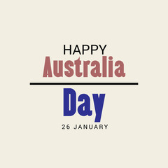 illustration of a Background for Happy Australia Day.