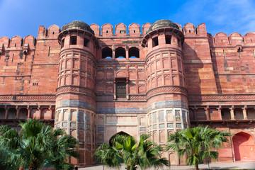 Foto op Plexiglas Asia land India. Agra. Red fort.