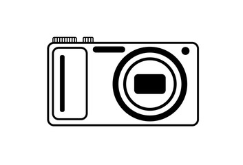 Black and white logo of the digital camera.