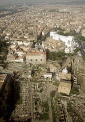 Rome's ancient Forum lies in the centre of the Italian capital in an aerial file photo.