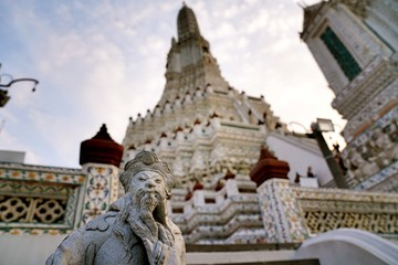 wat arun as a famous landmark in Bangkok, Thailand