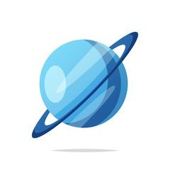 Planet uranus vector isolated illustration