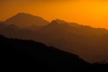 Sunset china shaanxi