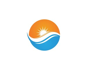 Vector - Wave beach logo and symbols vector template icons