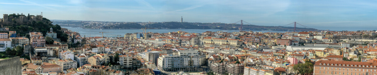 Panoramic view of Lisbon city, Portugal