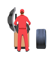 Tire Production and Repairment Service, Mechanic